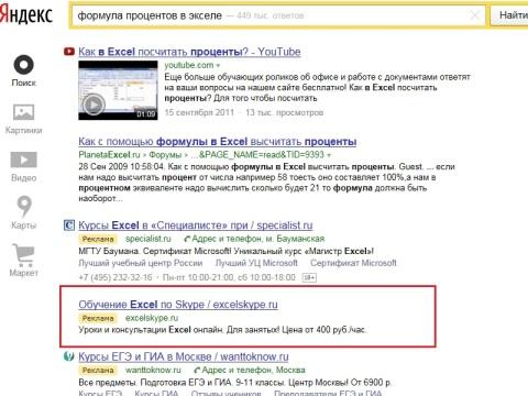 Реклама сайта на Яндексе