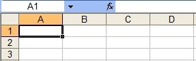Ячейки в Excel 2003